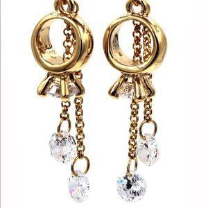 Little pendant ring crystal earrings